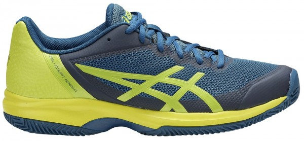 asics Gel Court Speed Clay dunkelblau gelb