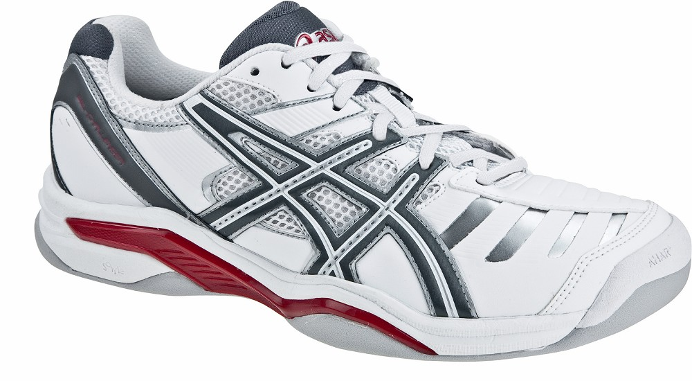 asics gel challenger 9 indoor wei grau halle teppich herren schuhe tennis sport. Black Bedroom Furniture Sets. Home Design Ideas