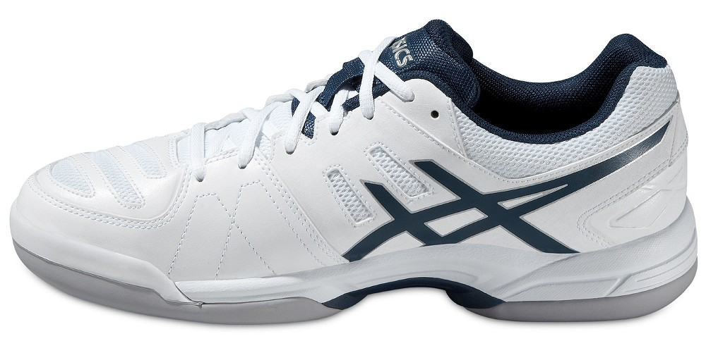 asics gel dedicate 4 indoor wei dunkelblau halle teppich herren schuhe tennis sport. Black Bedroom Furniture Sets. Home Design Ideas