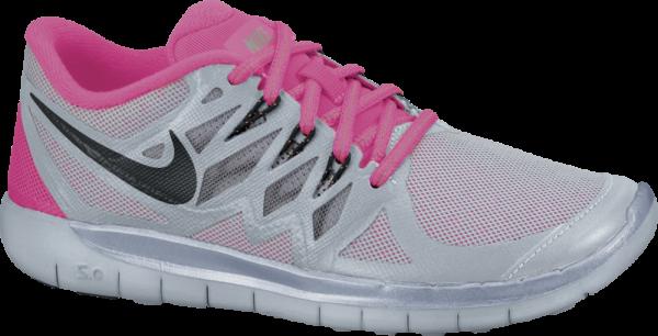 Nike Free 5.0 Flash (GS) silber pink grau