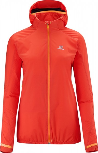Salomon Jacke Fast Wing Hoodie W rot orange